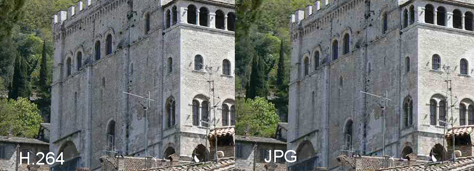 H.264 Compression vs JPG